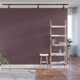 Dunn and Edwards 2019 Curated Colors Wine Stain (Dark Grape Purple) DEA145 Solid Color Wall Mural