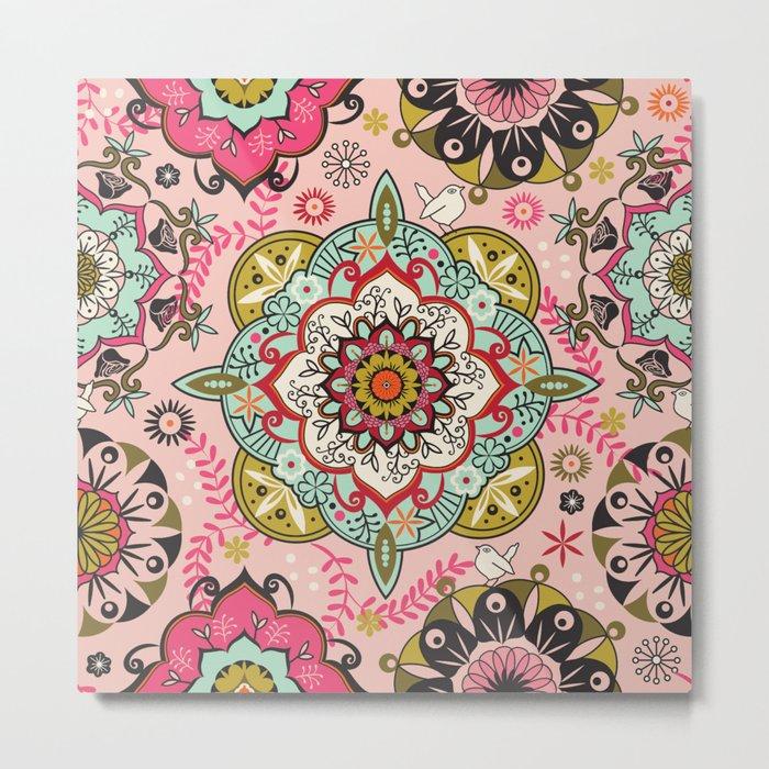 Mandala color pattern Metal Print