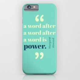 A Word Is Power iPhone Case