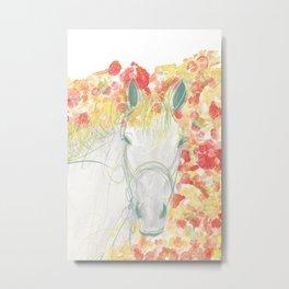 Watercolor Horse Illustration by McKenna Sendall Metal Print