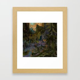 THE QUEST BEGINS Framed Art Print