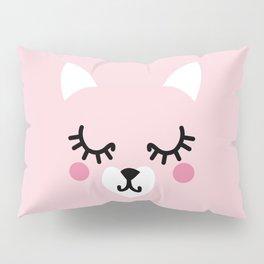 Pink Kittie Pillow Sham