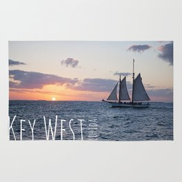 Sunset Sailing Rug