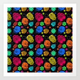 Day of the Dead Pattern Art Print