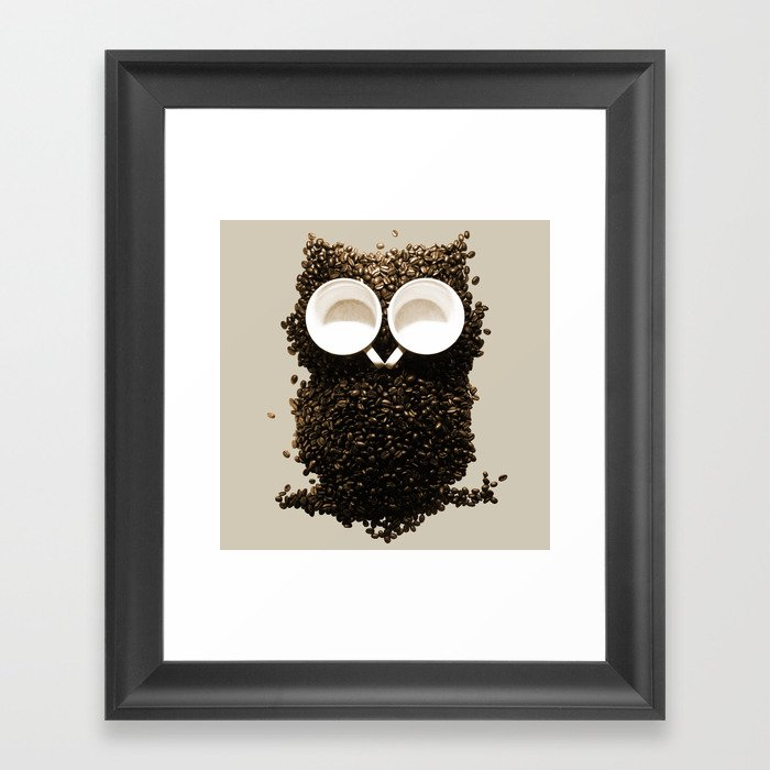Hoot! Night Owl! Framed Art Print