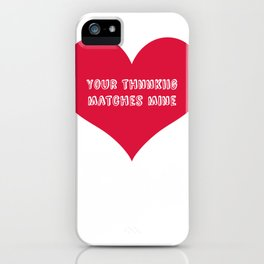 """Thnnkiig"" iPhone Case"