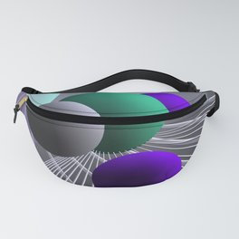 converging lines and balls -1- Fanny Pack