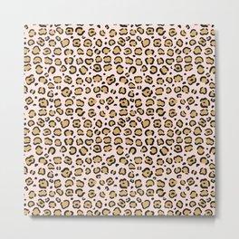 Pink Cheeta Pattern Metal Print