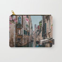 Spring Venice emerald canal with old building  Carry-All Pouch
