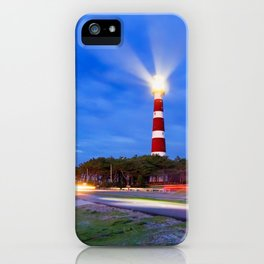 Lighthouse trails iPhone Case