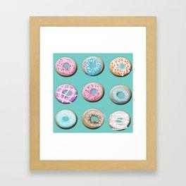 Donuts for tea Framed Art Print