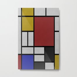 Mondrian on concrete ... Metal Print