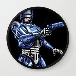 Robocop Pixel Art Wall Clock
