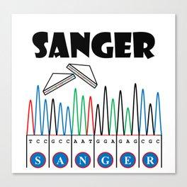 Sangerism - Sanger Sandwich Canvas Print