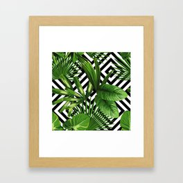 Tropical Jungle Pattern Framed Art Print