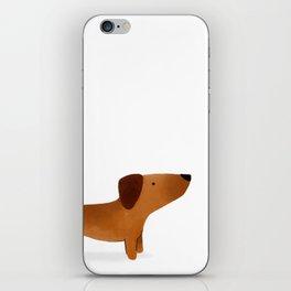 Watercolor Dachshund Weiner Dog iPhone Skin