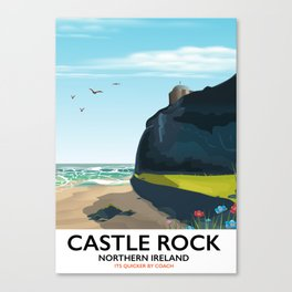 castle rock northern ireland Canvas Print