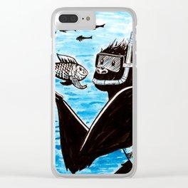 Inktober: Underwater + Gorilla Clear iPhone Case