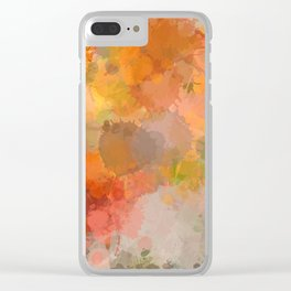 Modern contemporary Yellow Orange Abstract Clear iPhone Case