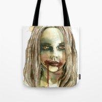 fierce Tote Bags featuring Fierce by ArtbyLumi