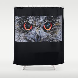 Sight: The Eyes of an Eagle Owl Shower Curtain