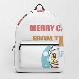 Cute Snowman Christmas Gift For Barber's Backpack