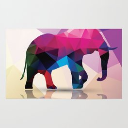 Geometric elephant Rug