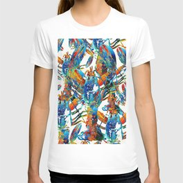 Colorful Lobster Collage Art - Sharon Cummings T-shirt