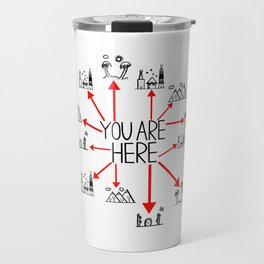 You Are Here (Centered) Travel Mug
