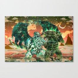 Cthulhu vs Godzilla Canvas Print