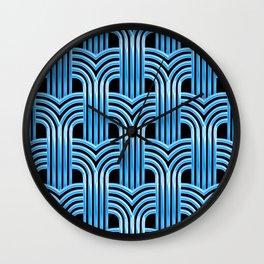 McCool Blue 3-D Graphic Design Pattern Wall Clock