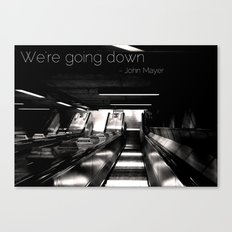 Going Down Canvas Print