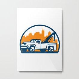 Vintage Tow Truck Wrecker Retro Metal Print
