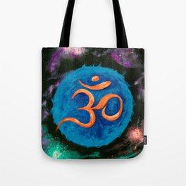 Om Star in Nebula Tote Bag