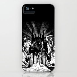 Evil King on Throne iPhone Case
