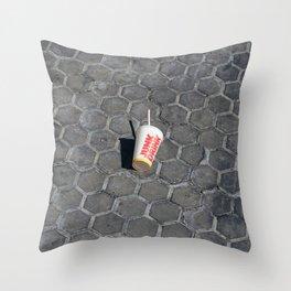 Junk Drink Throw Pillow