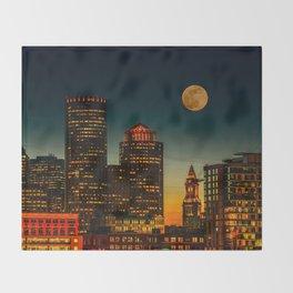 Boston Pink  Moon Throw Blanket