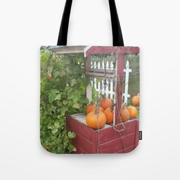 Pumpkins by the Well Tote Bag