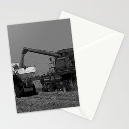 Black & White Rice Harvest Pencil Drawing Photo Stationery Cards