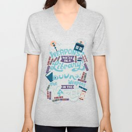 Books are the best weapons Unisex V-Neck