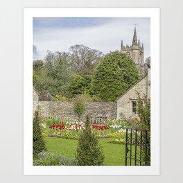 English Garden. Art Print