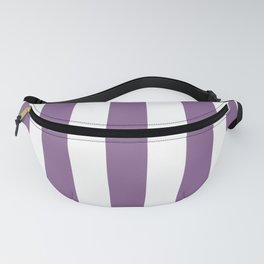 Pomp and Power violet - solid color - white vertical lines pattern Fanny Pack