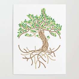 Rope Tree of Life. Rope Dojo 2017 white background Poster