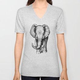Ornate elephant Unisex V-Neck