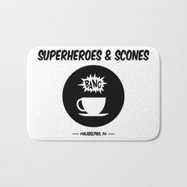 Superheroes and Scones Bath Mat