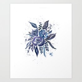 Midnight bouquet Art Print