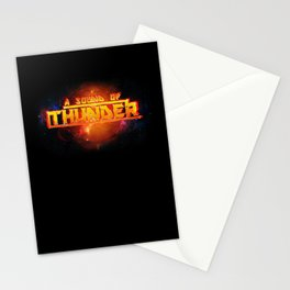 A Sound of Thunder Fire Planet Stationery Cards
