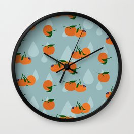 Clementines and drops Wall Clock