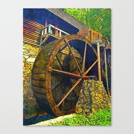 Gristmill Water Wheel Canvas Print
