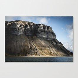 Spitzbergen, Svalbard Jan Mayen Norway Mountain Canvas Print
